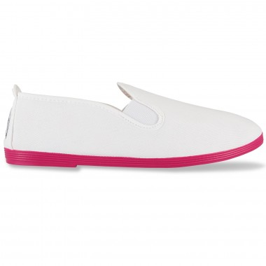 Flossy - Luna White Pink Sole Colors