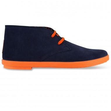 Flossy - Desert boot Navy/Orange فلــوسـی